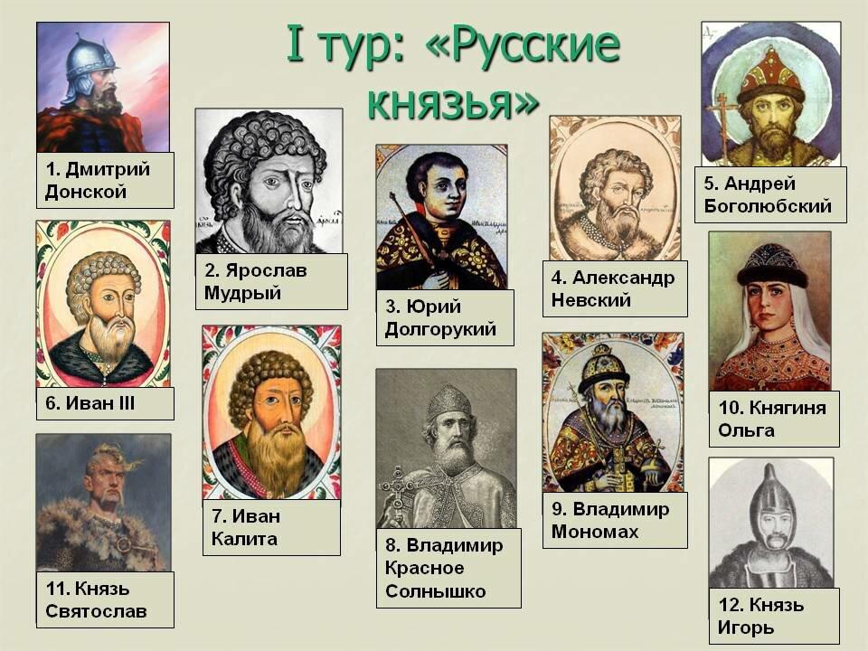 Картинка древнерусские князья