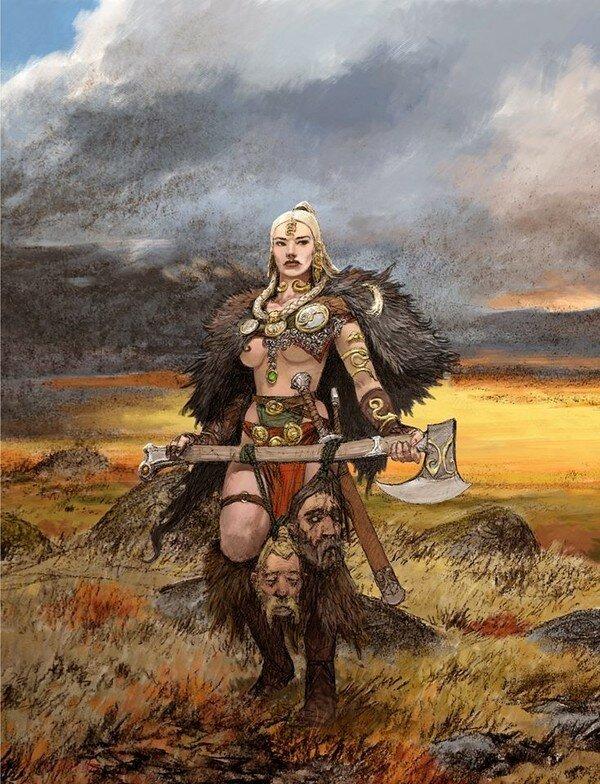 Картинка варвар и девушка