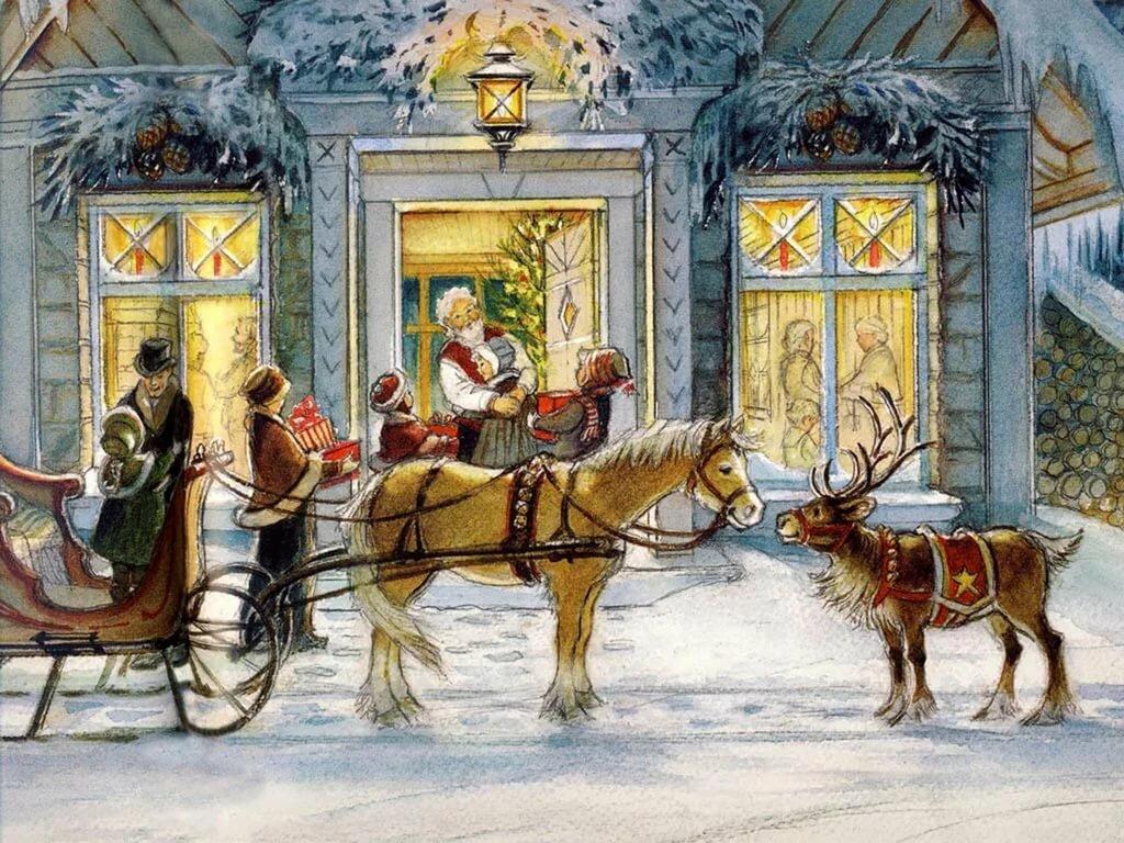 царит картинки к новому году и рождеству старинные находится как проехать
