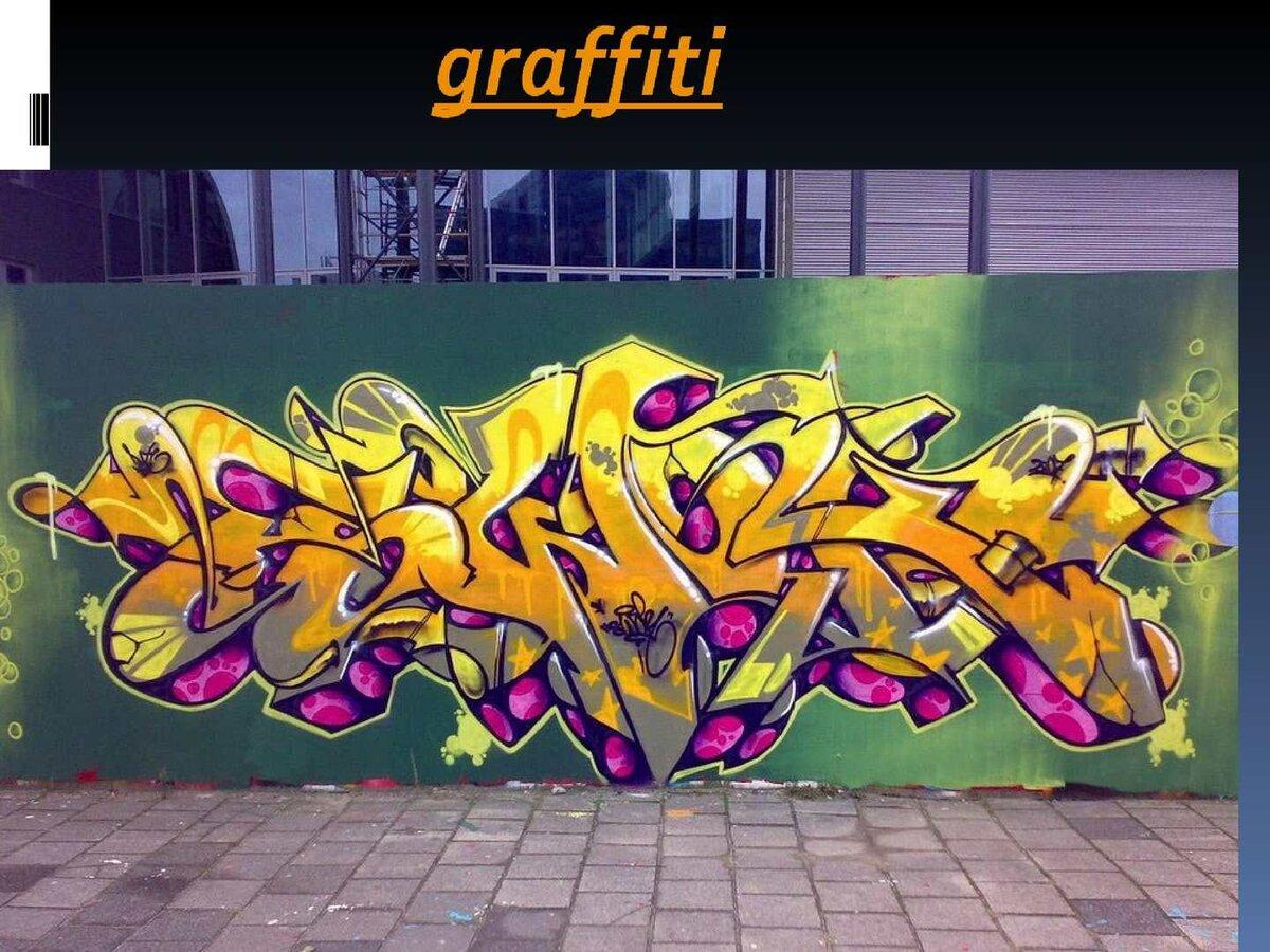 если картинки граффити сообщение заготовим цветную, тем