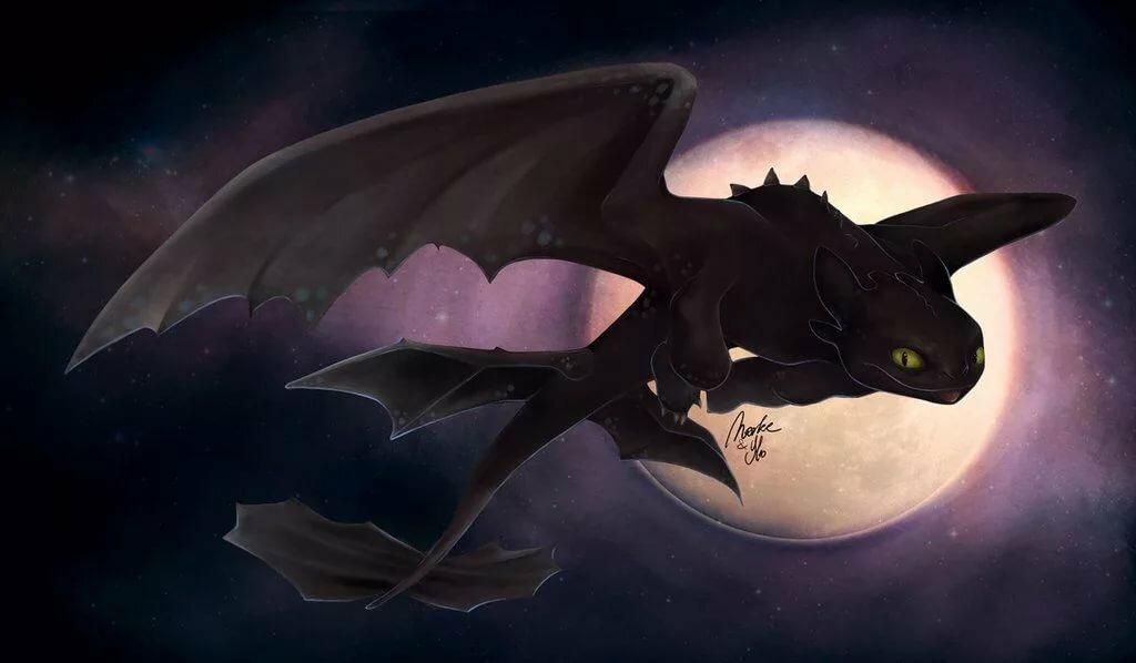 картинки дракона луна из как приручить дракона