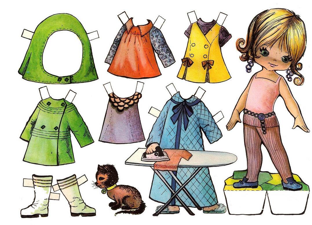 картинки бумажных кукол с одеждой для вырезания семья
