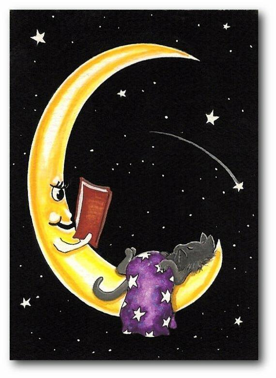 Смешная картинка доброй луны