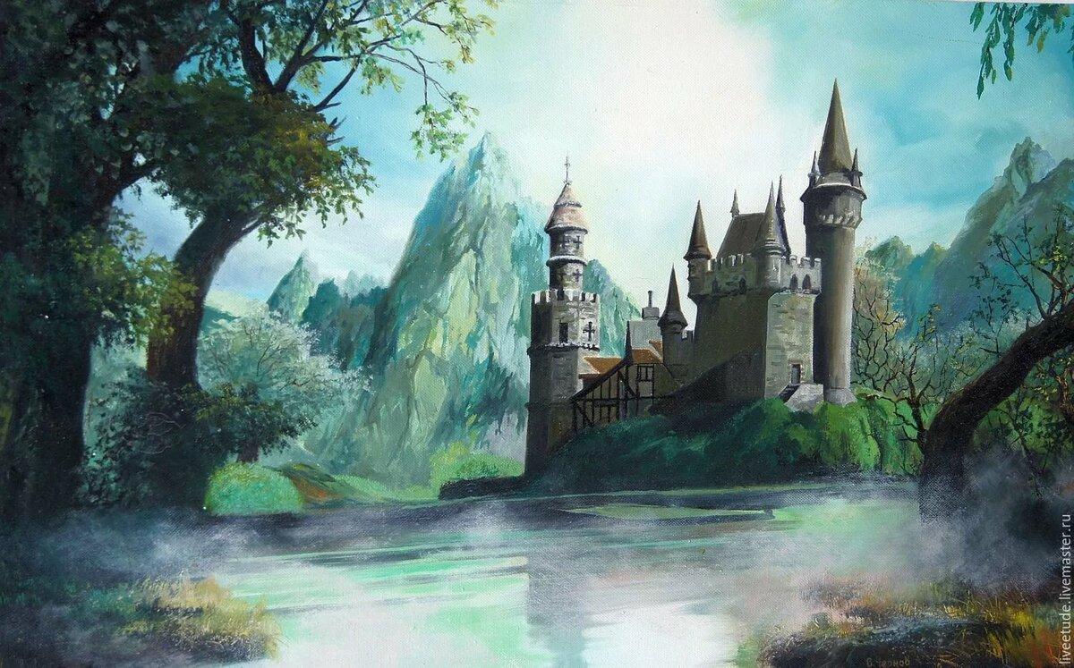 Дворец в лесу рисунок