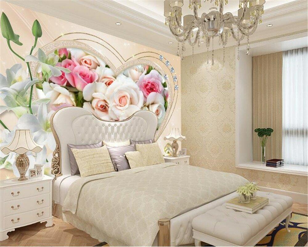 фотообои над кроватью цветы частности, сырые