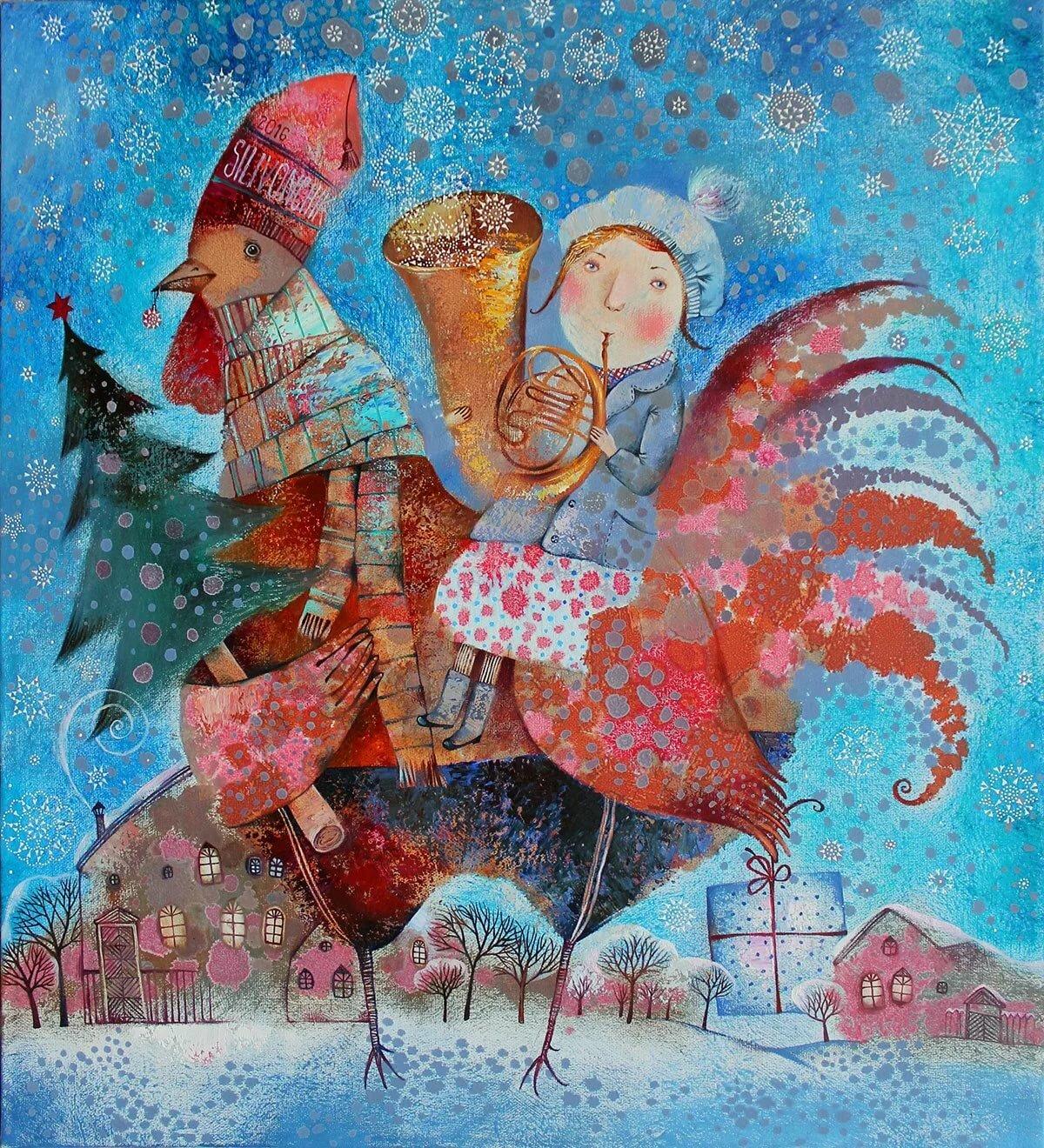рождественские мотивы в картинах художников