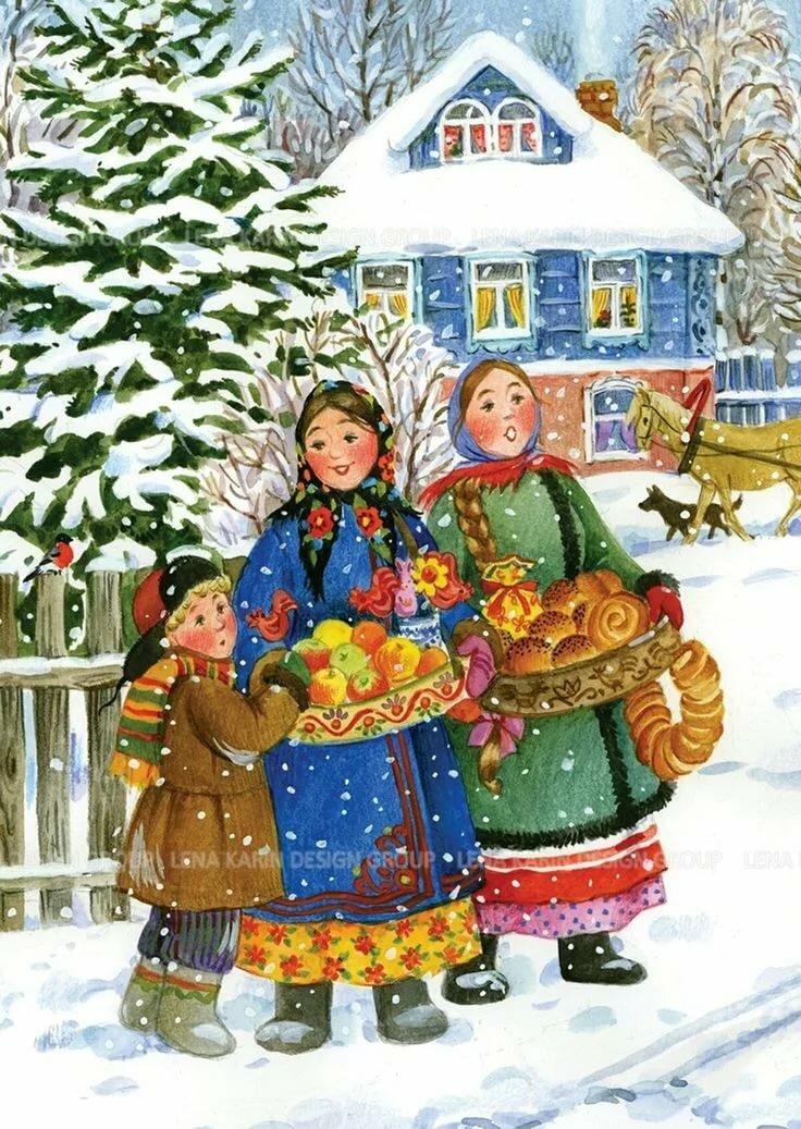 русские народные картинки зима проекта переосмыслили базовые