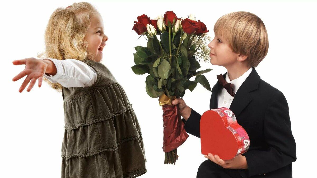 Картинки мальчик с девочкой роза