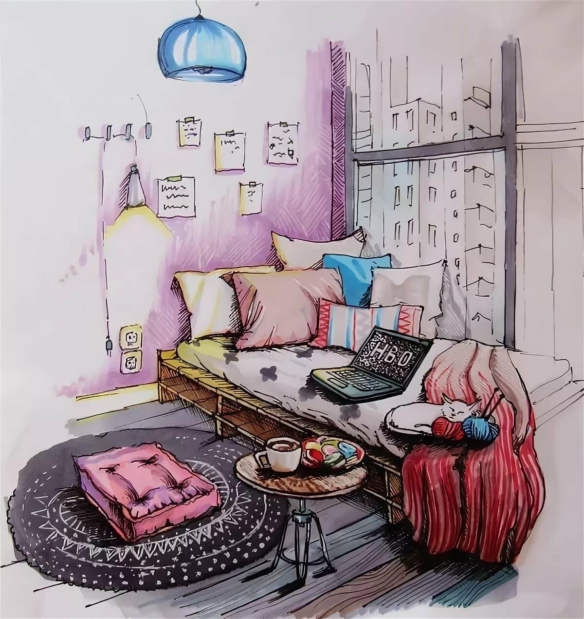 Нарисованные картинки домашних условиях