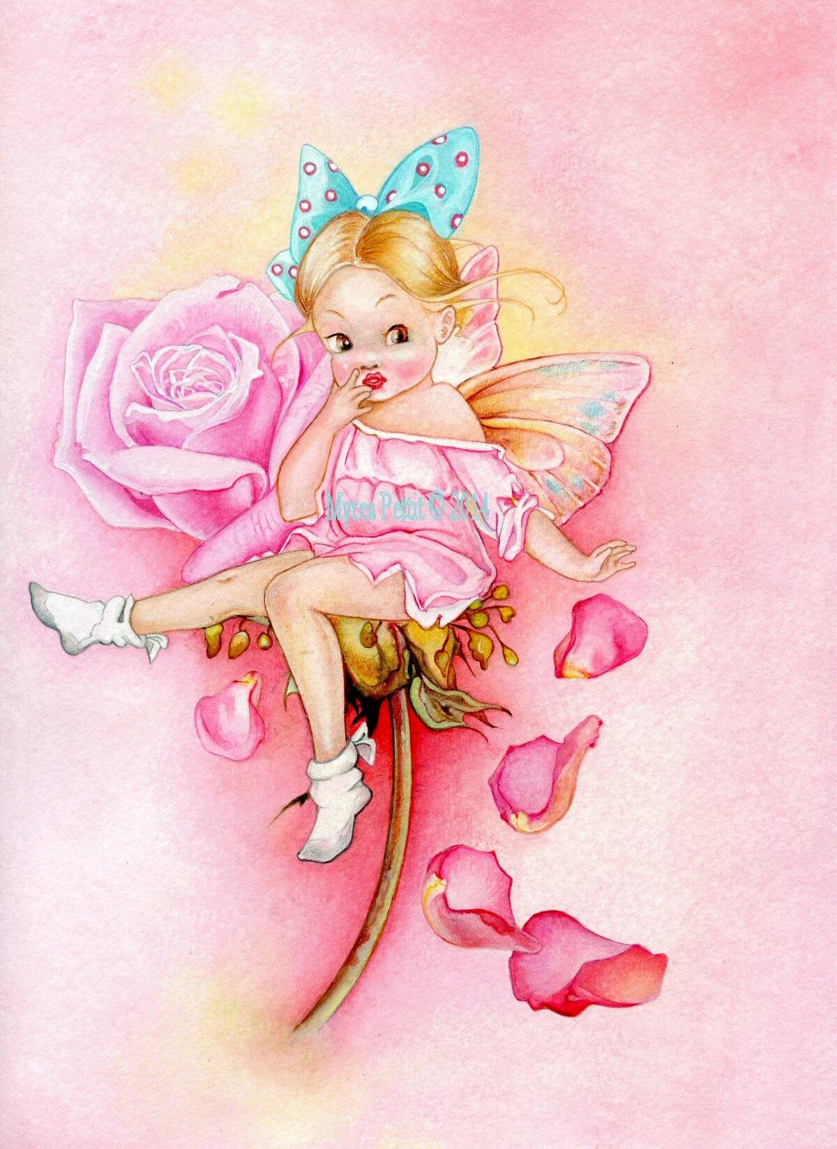 Фея в розовом картинка