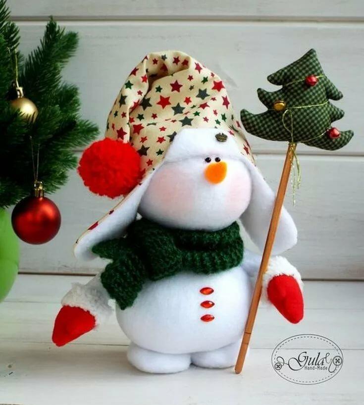 снеговик мягкая игрушка сшить фото же