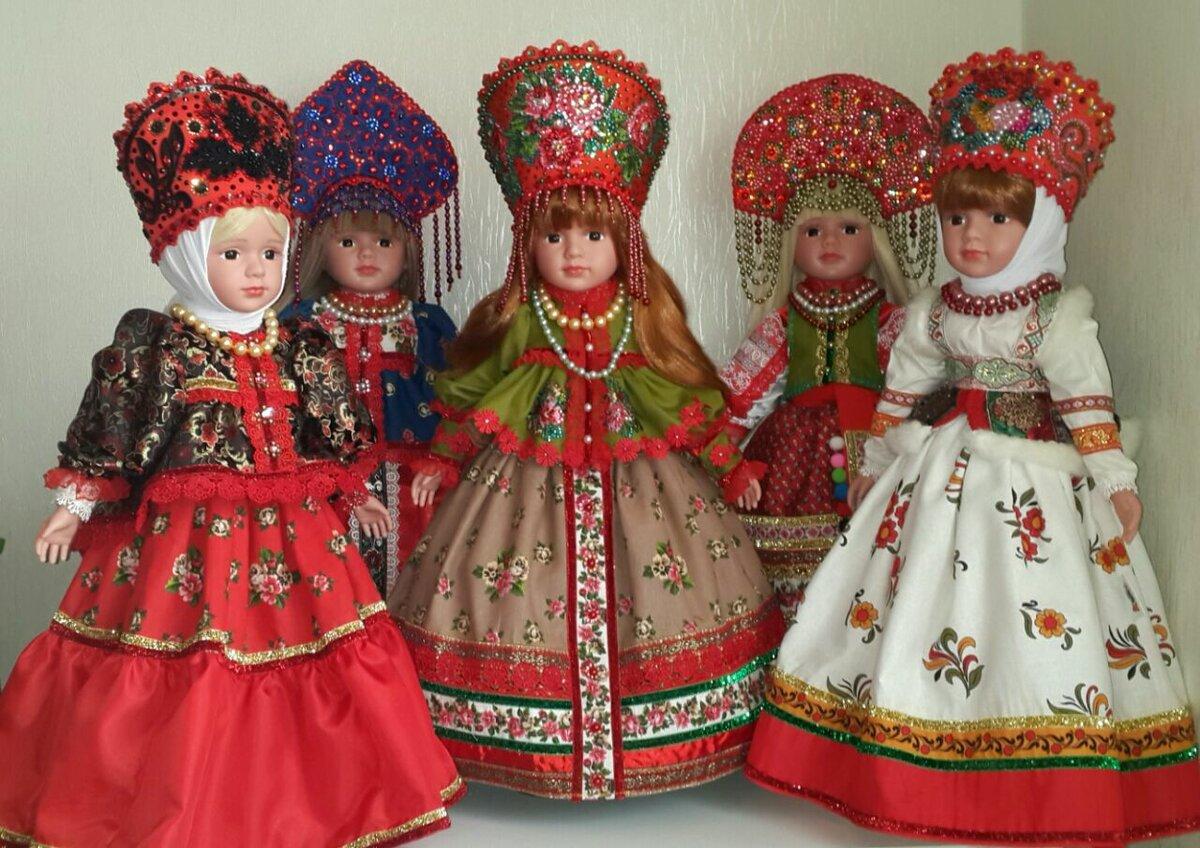 Картинки куклы в национальных костюмах для детей