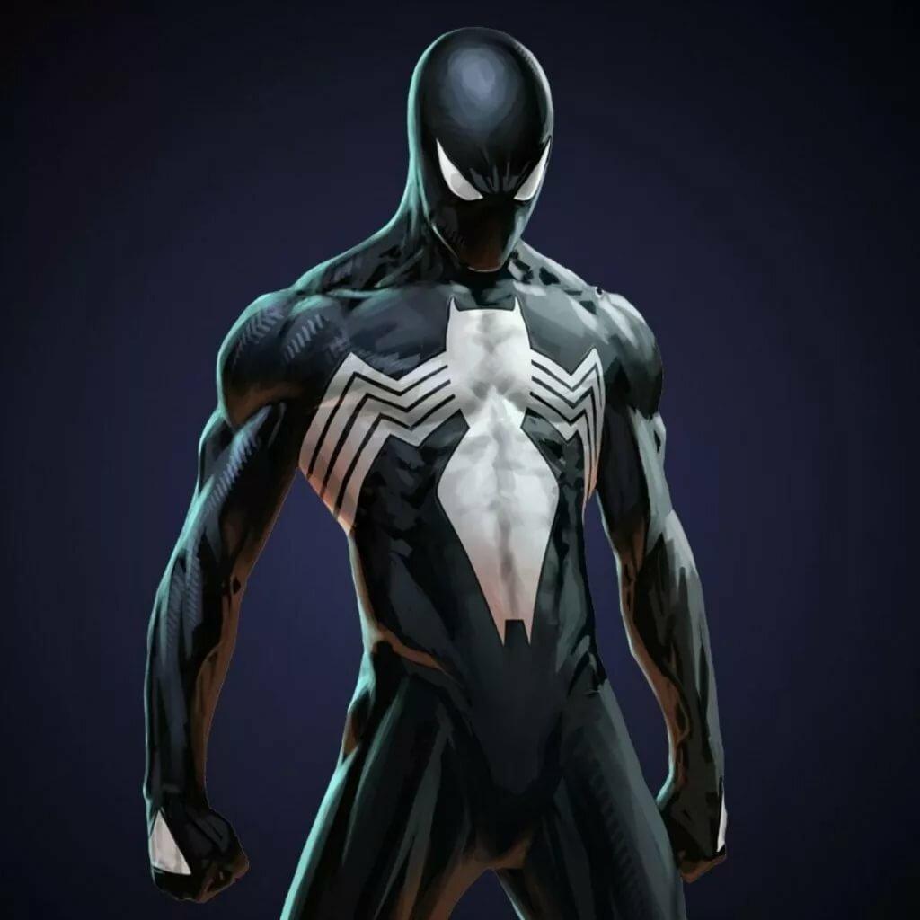 вас фото человека паука в черном костюме крышах