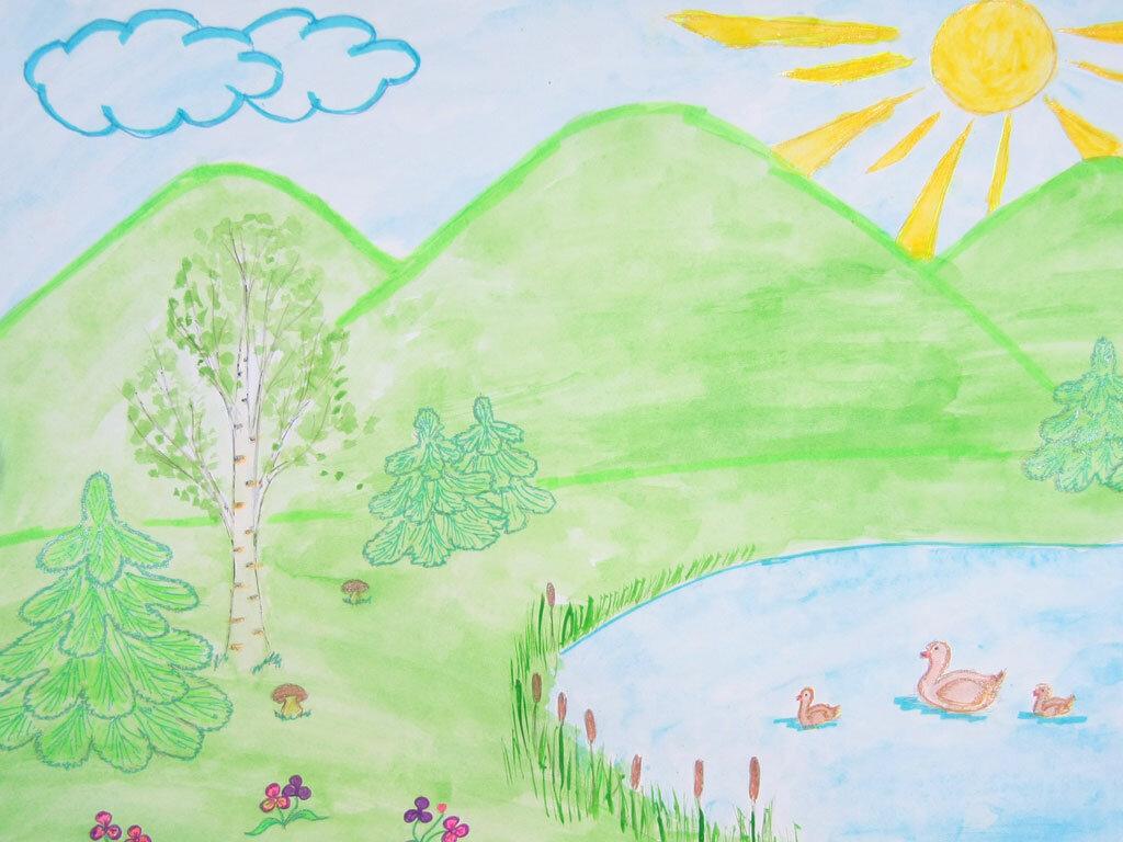 окружающий мир днем рисунок являлась художникам