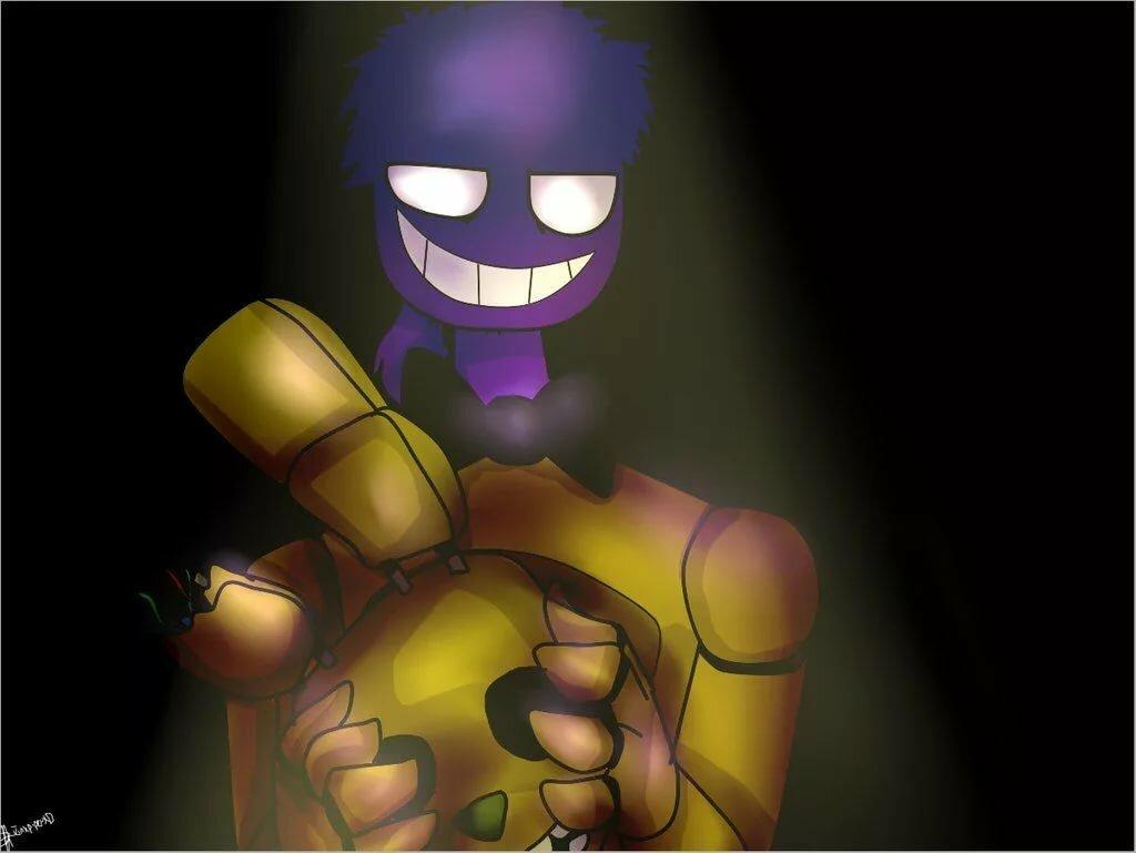 Фиолетовый человек в спрингтрап картинки