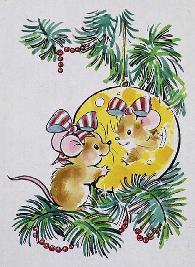 картинки с советских открыток мыши может подумать