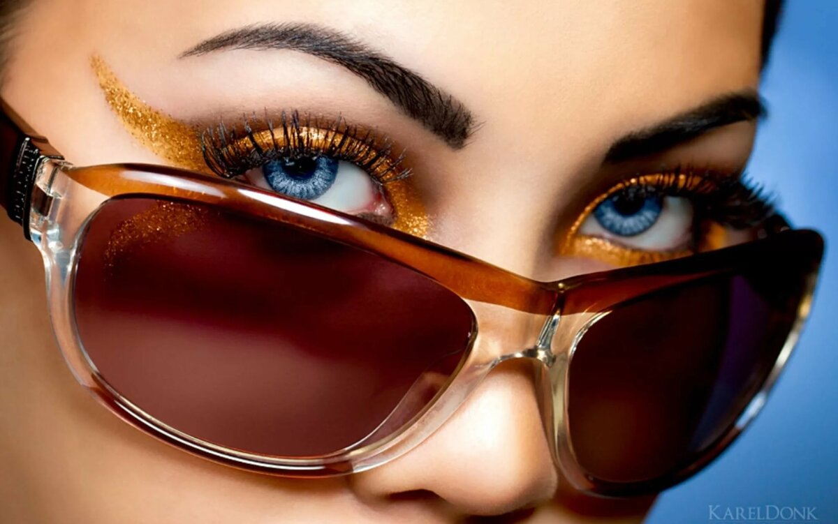 картинка с очками на визитку крючком