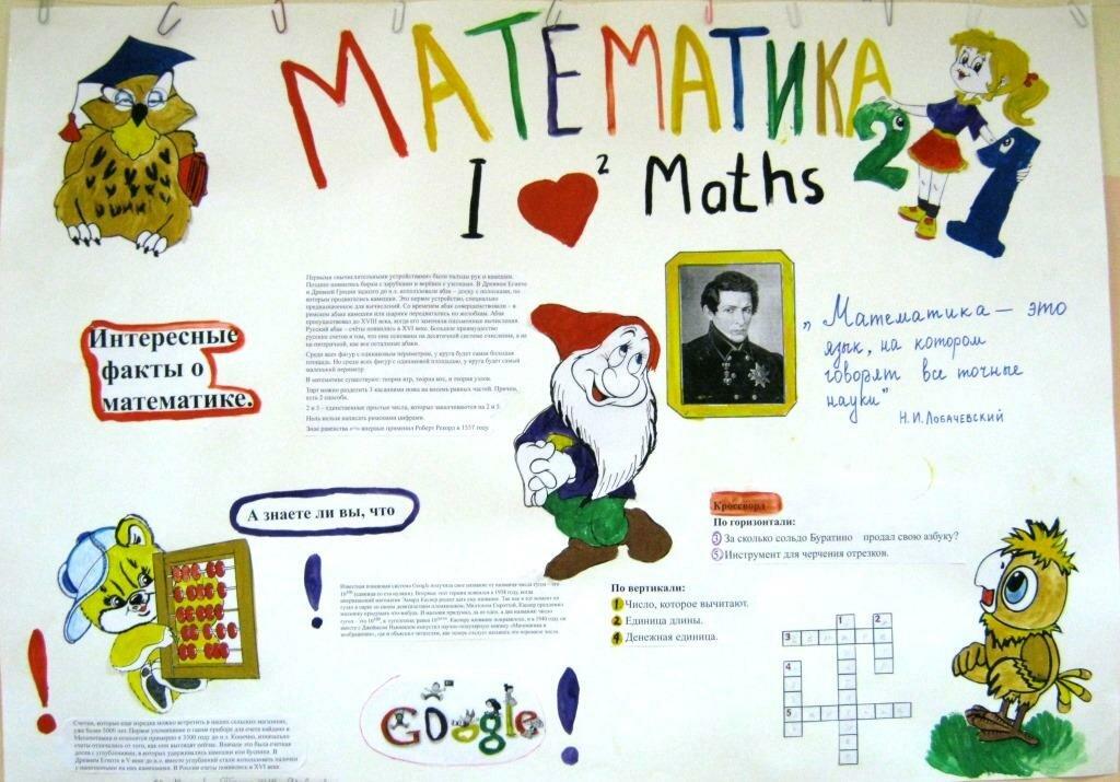 Плакаты на неделю математики картинки