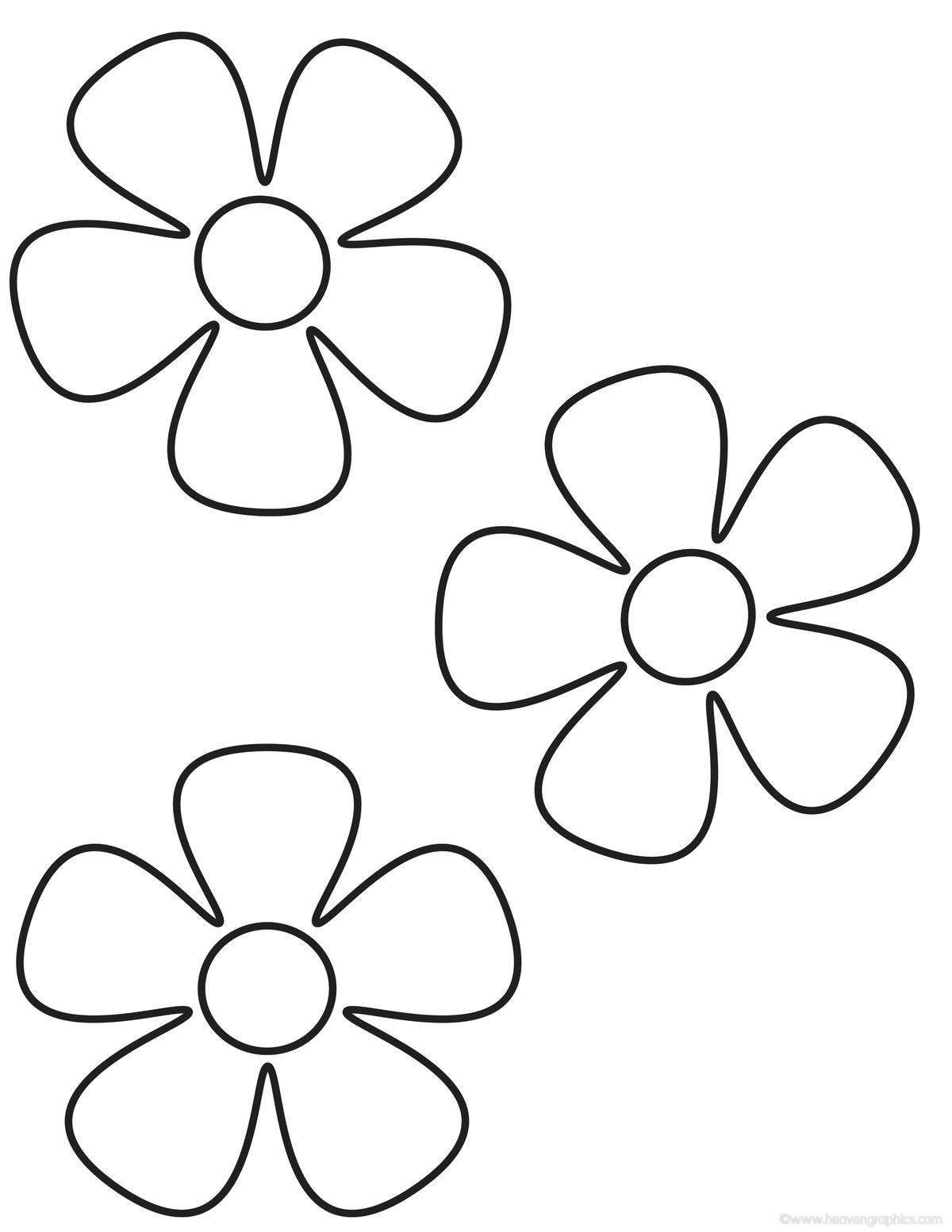 цветы для раскрашивания и вырезания черным