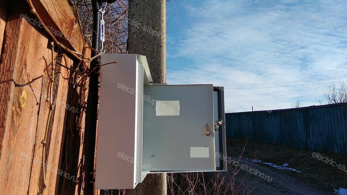 Установка электрощита на 15 кВт для частного дома в Ступинском районе д Верзилово