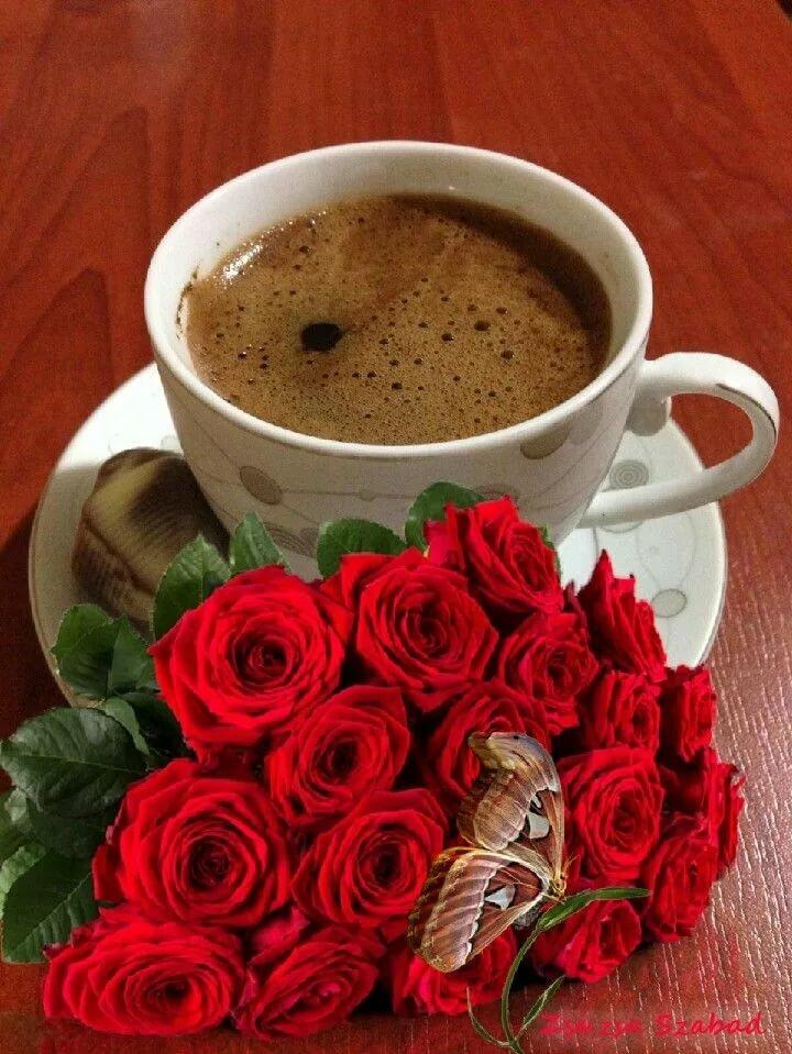 быть картинки кофе с розами сверху обязательно