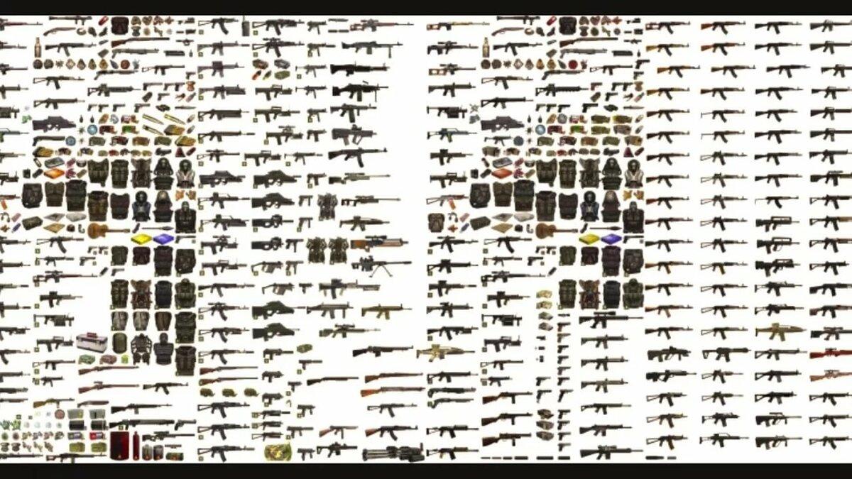 Все оружие сталкер тень чернобыля