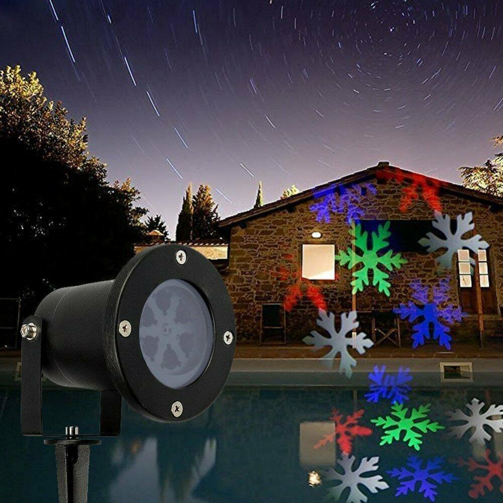 Лазерный проектор для Рождества в Донецке