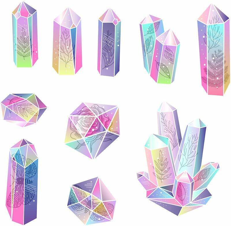 Картинки кристаллики для распечатки