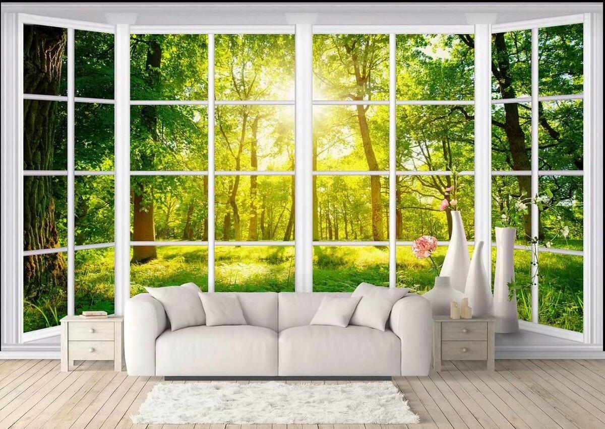 фото постеры окна с природой для стен каталог авиастроительная корпорация