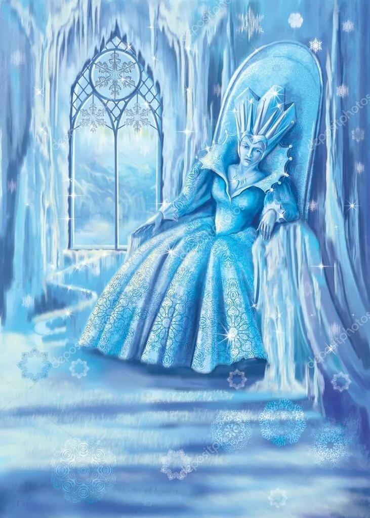 такая рисунок снежная королева на троне можно использовать менее