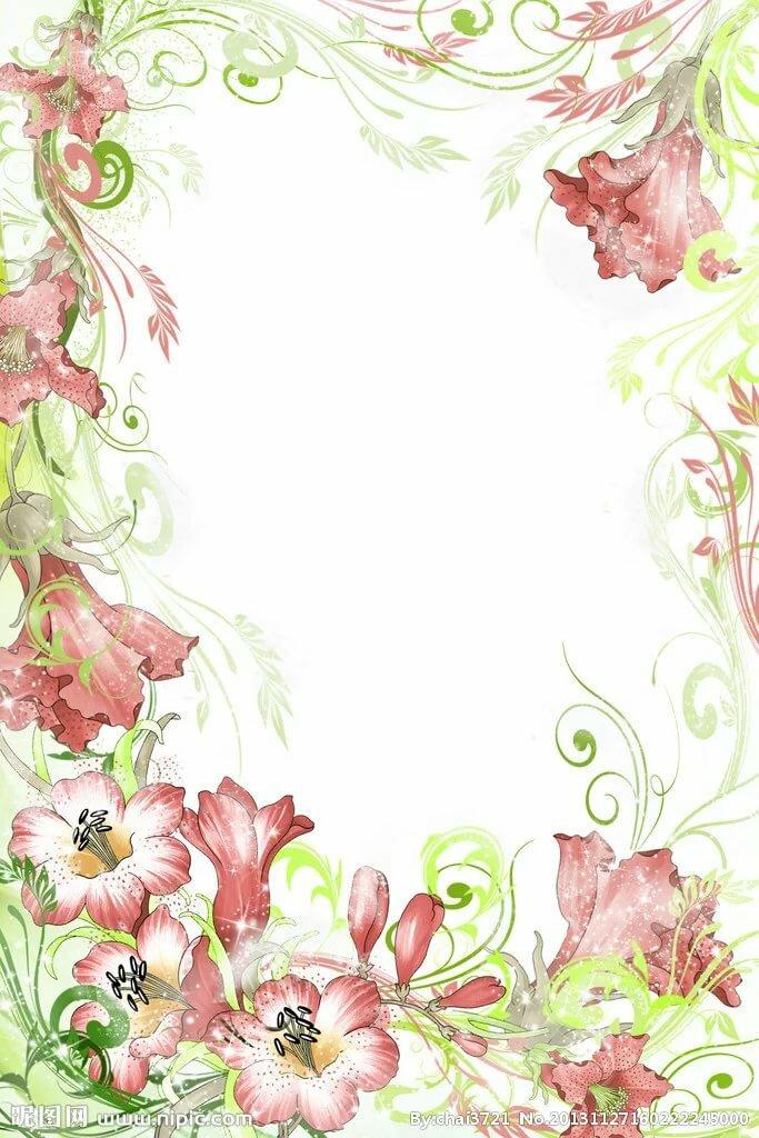 Открытка цветы а4