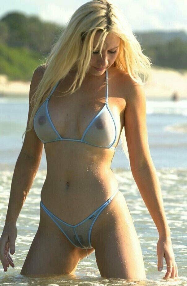 Babes In Sheer Bikini At The Beach Eporner 1