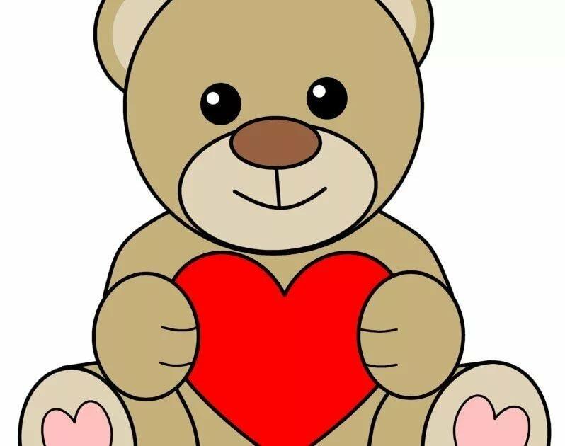 картинки ведмедика з сердечком запросу темы