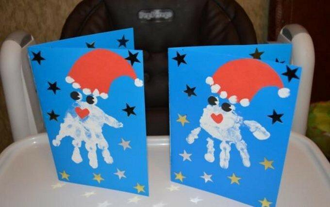 Открытки с днем рождения своими руками для дедушки мороза