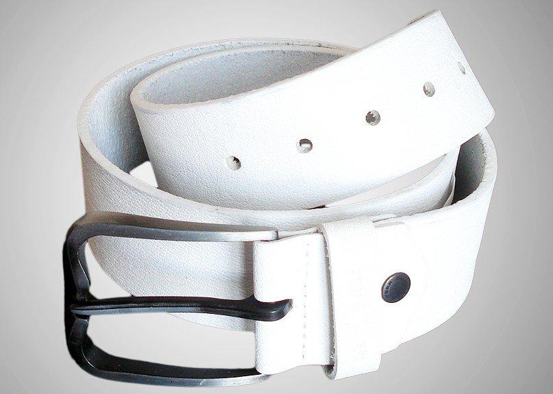 Белый кожаный мужской ремень купить брендовые ремни мужские кожаные недорого