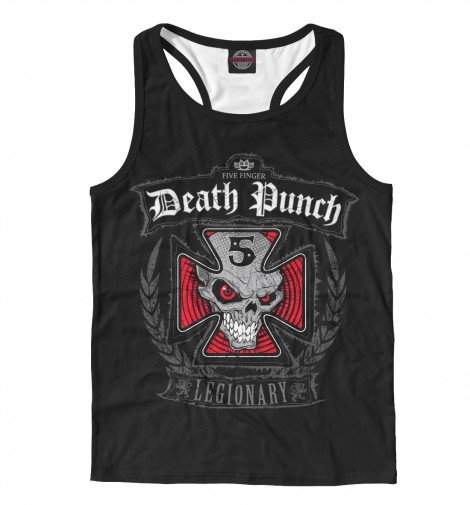 Мужская майка борцовка 3D Five Finger Death Punch