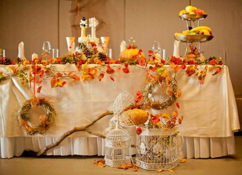 Декор свадьбы в осеннем стиле