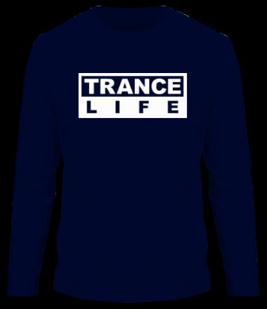 Мужская футболка с длинным рукавом Trance life