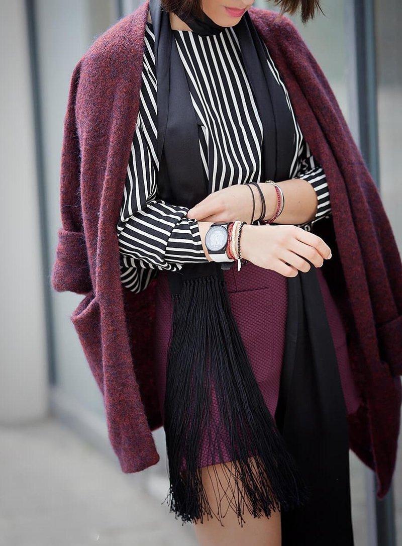 Пальто с укороченным рукавом.