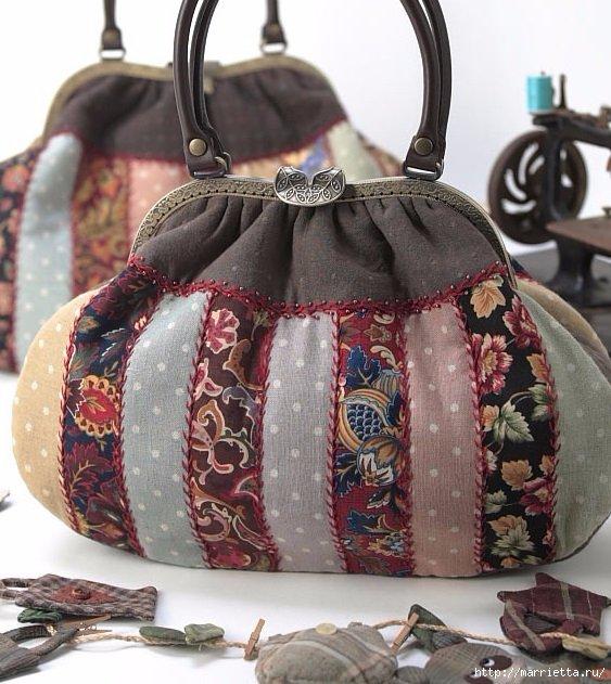 Идеи сумок ручной работы в технике пэчворк. Без выкроек и шаблонов, просто для любования и вдохновения)  Вдохновлялочка Марриэтты