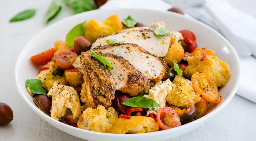 салат с курицей рецепт с фото пошаговый