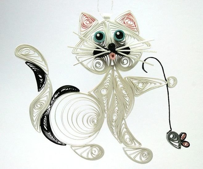 Квиллинг картинки кота, лисой