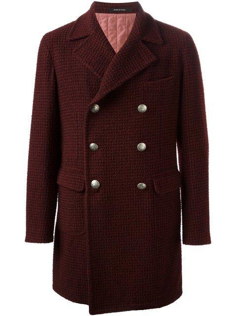 Купить Tagliatore двубортное пальто в клетку .