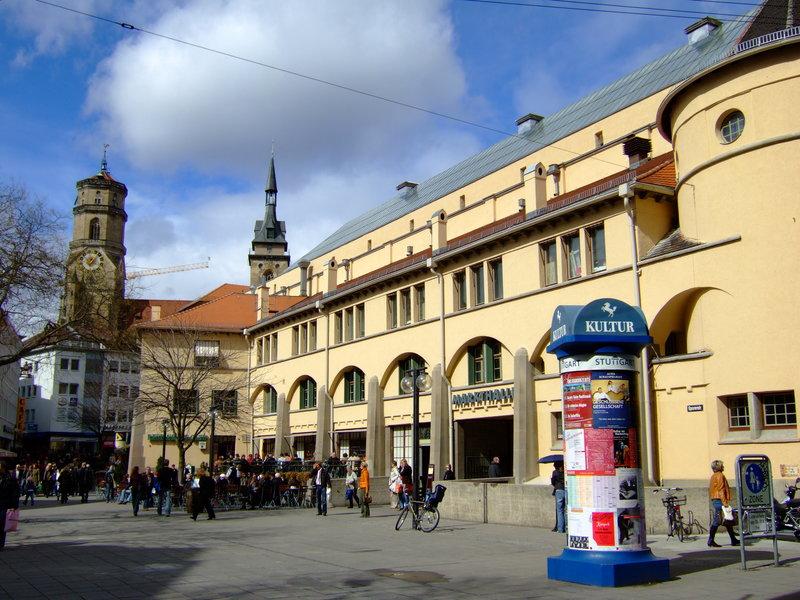 обычная улица города Штутгарт