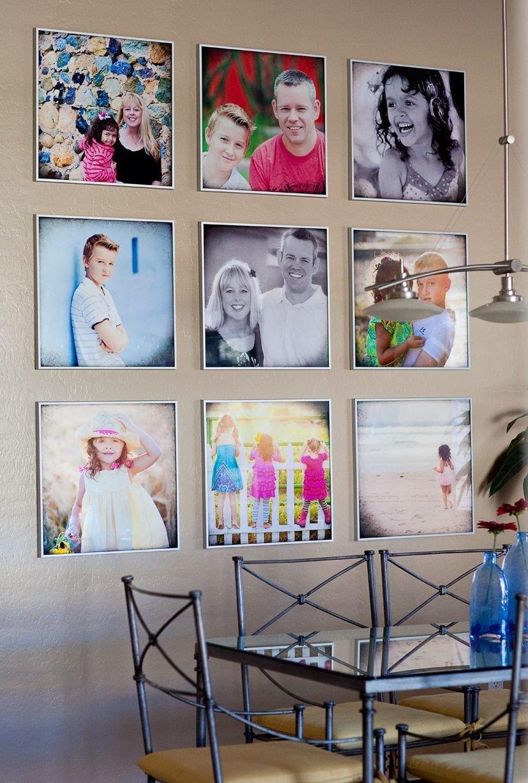 оформление стен фотографиями фото