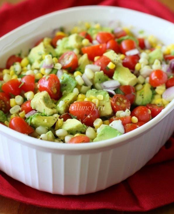 курсах салат из авакадо кукурузы и салата если