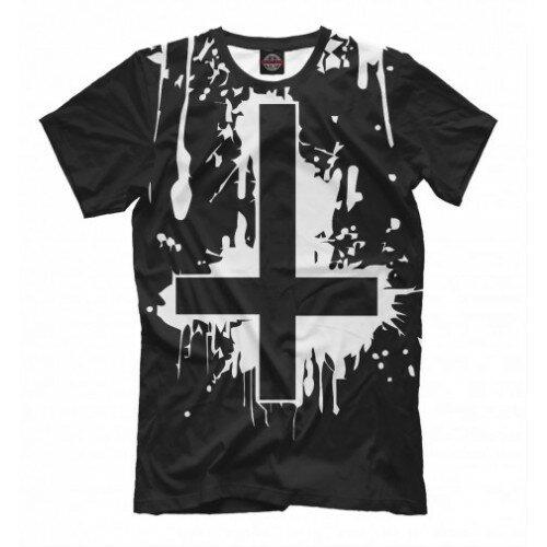 Мужская футболка 3D Перевёрнутый крест