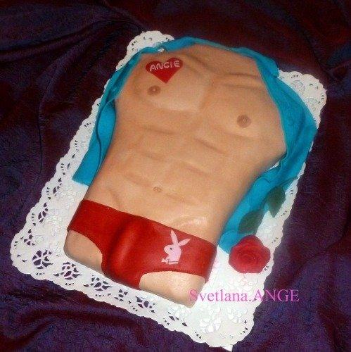 Эротический торт Торс в красных труселях