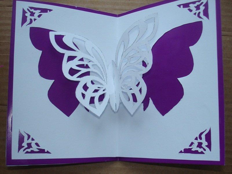 Гнездо, объемная открытка своими руками с бабочками