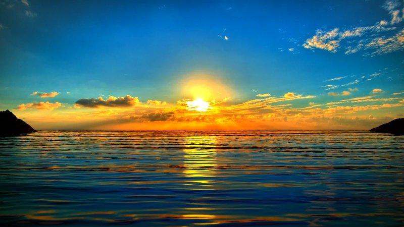 фото восход солнца на море